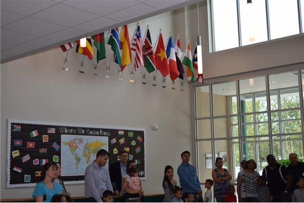 Celebrating Diversity:  Front Lobby Flag Dedication Ceremony